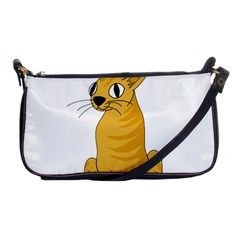 Yellow cat Shoulder Clutch Bags