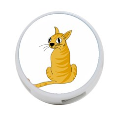 Yellow cat 4-Port USB Hub (Two Sides)