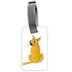 Yellow cat Luggage Tags (Two Sides)