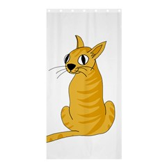 Yellow cat Shower Curtain 36  x 72  (Stall)