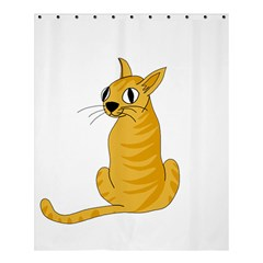 Yellow cat Shower Curtain 60  x 72  (Medium)