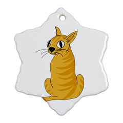 Yellow cat Ornament (Snowflake)