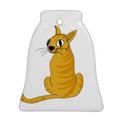 Yellow cat Bell Ornament (2 Sides)