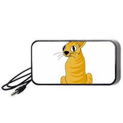 Yellow cat Portable Speaker (Black)
