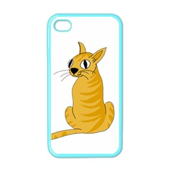 Yellow cat Apple iPhone 4 Case (Color)