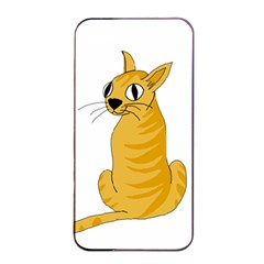 Yellow cat Apple iPhone 4/4s Seamless Case (Black)