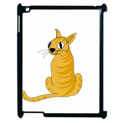 Yellow cat Apple iPad 2 Case (Black)