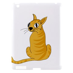 Yellow cat Apple iPad 3/4 Hardshell Case (Compatible with Smart Cover)