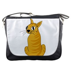 Yellow cat Messenger Bags