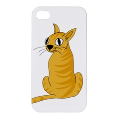 Yellow cat Apple iPhone 4/4S Premium Hardshell Case