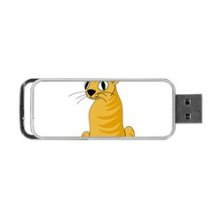 Yellow cat Portable USB Flash (One Side)