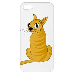 Yellow cat Apple iPhone 5 Hardshell Case