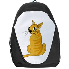 Yellow cat Backpack Bag