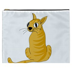 Yellow cat Cosmetic Bag (XXXL)