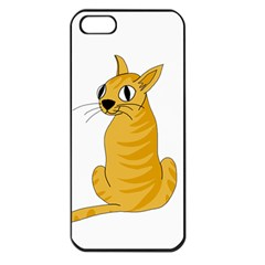 Yellow cat Apple iPhone 5 Seamless Case (Black)