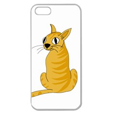 Yellow cat Apple Seamless iPhone 5 Case (Clear)