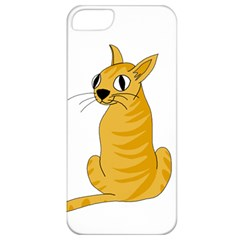 Yellow cat Apple iPhone 5 Classic Hardshell Case