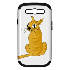 Yellow cat Samsung Galaxy S III Hardshell Case (PC+Silicone)