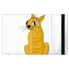 Yellow cat Apple iPad 3/4 Flip Case