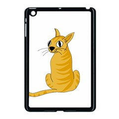 Yellow cat Apple iPad Mini Case (Black)