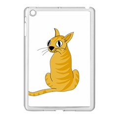 Yellow cat Apple iPad Mini Case (White)