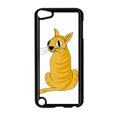 Yellow cat Apple iPod Touch 5 Case (Black)