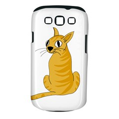 Yellow cat Samsung Galaxy S III Classic Hardshell Case (PC+Silicone)
