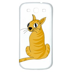 Yellow cat Samsung Galaxy S3 S III Classic Hardshell Back Case