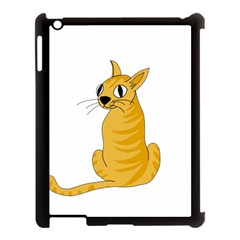 Yellow cat Apple iPad 3/4 Case (Black)