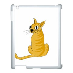 Yellow Cat Apple Ipad 3/4 Case (white) by Valentinaart