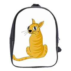 Yellow cat School Bags (XL)