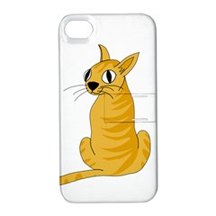 Yellow cat Apple iPhone 4/4S Hardshell Case with Stand