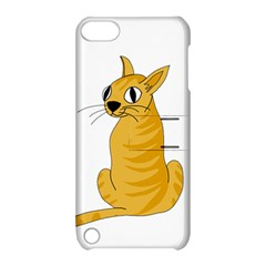 Yellow cat Apple iPod Touch 5 Hardshell Case with Stand