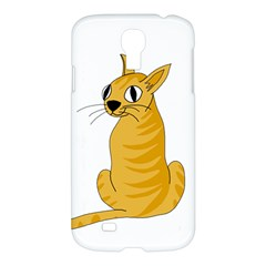 Yellow cat Samsung Galaxy S4 I9500/I9505 Hardshell Case