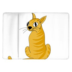 Yellow cat Samsung Galaxy Tab 10.1  P7500 Flip Case