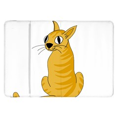 Yellow cat Samsung Galaxy Tab 8.9  P7300 Flip Case