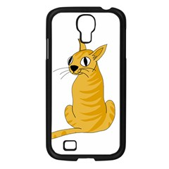 Yellow cat Samsung Galaxy S4 I9500/ I9505 Case (Black)