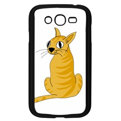 Yellow cat Samsung Galaxy Grand DUOS I9082 Case (Black)