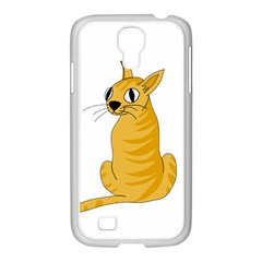 Yellow cat Samsung GALAXY S4 I9500/ I9505 Case (White)