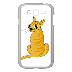 Yellow cat Samsung Galaxy Grand DUOS I9082 Case (White)