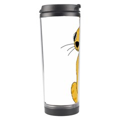 Yellow cat Travel Tumbler