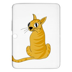 Yellow cat Samsung Galaxy Tab 3 (10.1 ) P5200 Hardshell Case