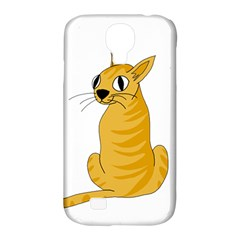 Yellow cat Samsung Galaxy S4 Classic Hardshell Case (PC+Silicone)