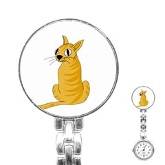 Yellow cat Stainless Steel Nurses Watch