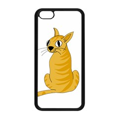 Yellow cat Apple iPhone 5C Seamless Case (Black)