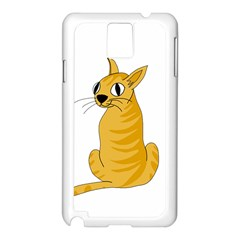 Yellow cat Samsung Galaxy Note 3 N9005 Case (White)