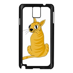 Yellow cat Samsung Galaxy Note 3 N9005 Case (Black)