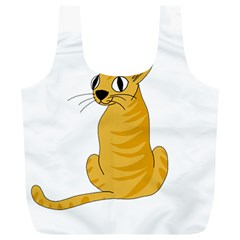Yellow cat Full Print Recycle Bags (L)