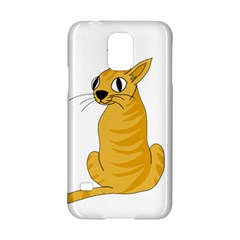 Yellow cat Samsung Galaxy S5 Hardshell Case