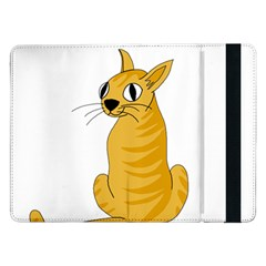 Yellow cat Samsung Galaxy Tab Pro 12.2  Flip Case
